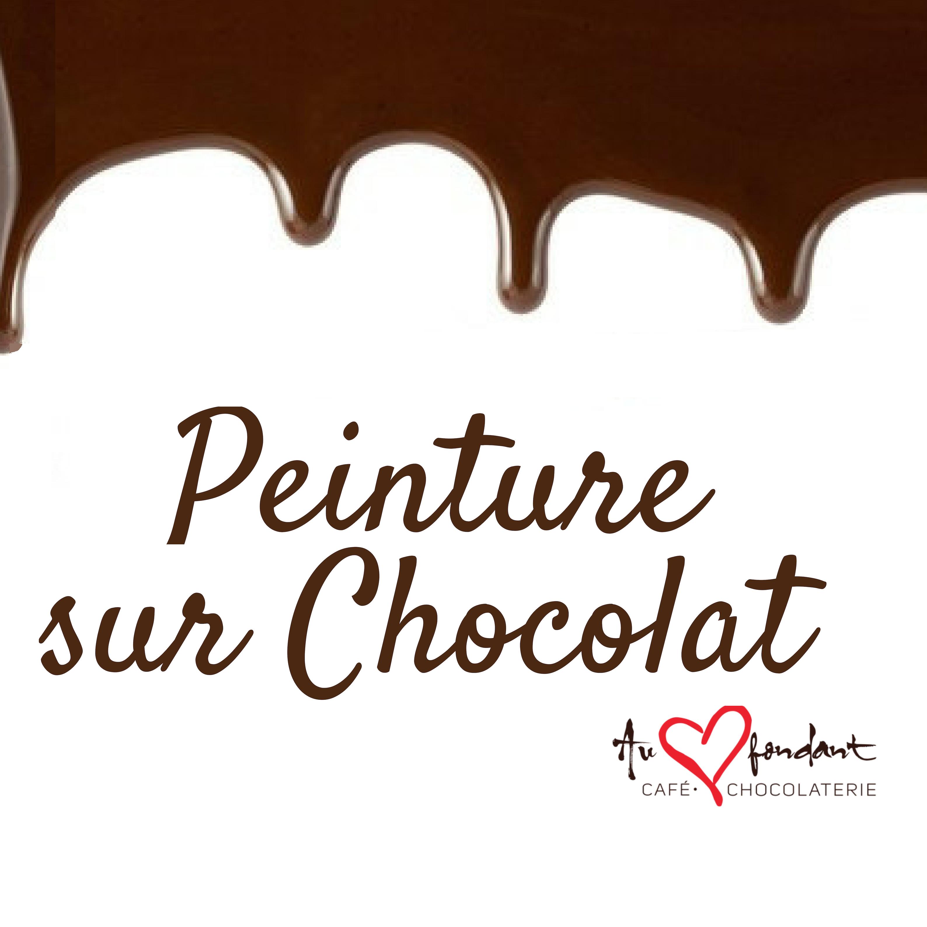 Peinture sur chocolat