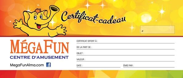 Certificat cadeau